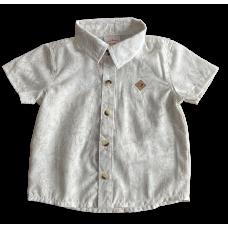 Camisa Folhagem Bege - Nini Bambini