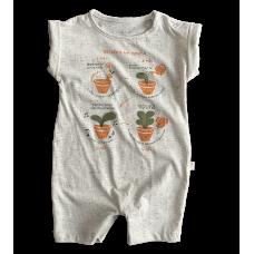 Macacão Curto Minha Horta - Nini Bambini