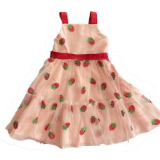Vestido Yogurte de Morango - Petit Cherie