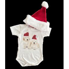 Conjunto Body e Touca Natal - YoLord