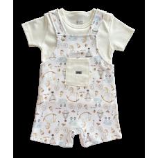 Conjunto Brinquedos - Jardineira e Camiseta - Mini Bear