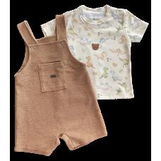 Conjunto Dino - Jardineira e Camisa - Mini Bear