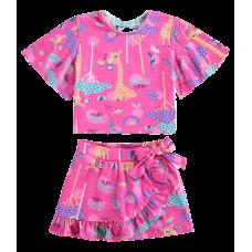 Conjunto Dona Girafa Pink - Kukiê