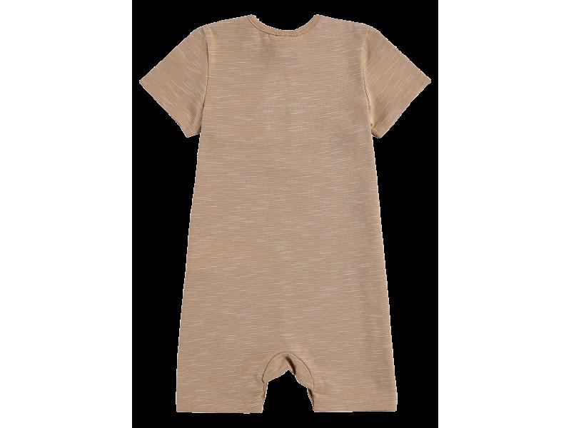 Macacão Malha Mesclada Nude - LucBoo