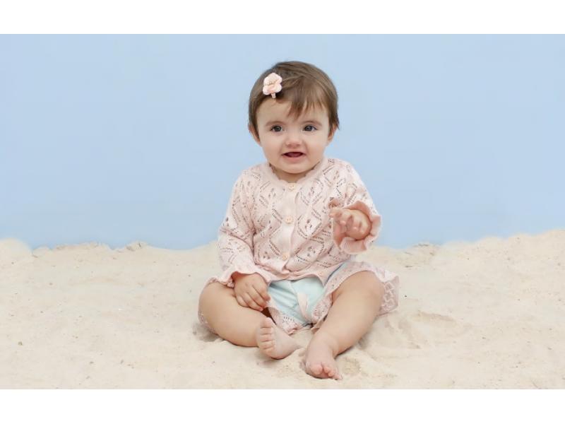 Cardigan Lontra Baby - Rosé - Mini Lady
