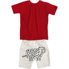 Conjunto Bebê Grraau - Vermelho e Off - Precoce
