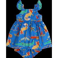 Vestido Azul Bichos - Precoce