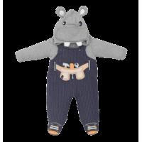Macacão Divertido Hipopótamo - Suedine/Malha - Upi Uli