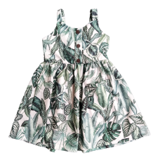 Vestido Safari Folhas - Petit Cherie