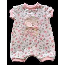 Macacão Verão Romantic Tea - Ursinho Floral - Petit Cherie