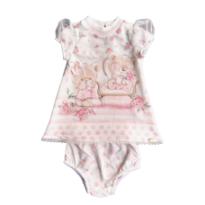 Vestido Moletinho Romantic Tea - Petit Cherie