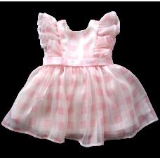 Vestido Romantic - Xadrez Rosa - Petit Cherie