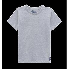 Camiseta Básica Manga Curta - Cinza Mescla - LucBoo