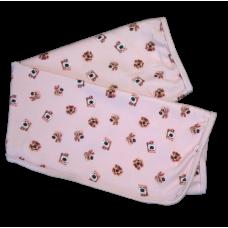 Cueiro Suedine - Cachorrinho Rosa - proteção solar Uv50 - Mini Bear