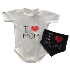 Conjunto Body e Bandana - Love Mom - Yoh!Lord