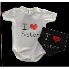 Conjunto Body e Bandana - Love Sister - Yoh!Lord