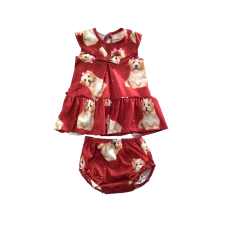 Vestido com Calcinha Cachorro Vermelho Bordô - YoLoveYo