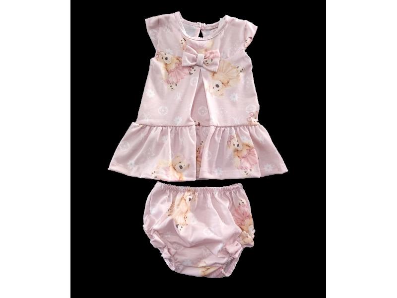 Vestido com Calcinha LV Rosa Bebê - YoLoveYo