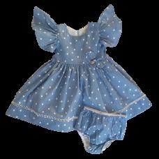 Vestido Jeans Coração - com Calcinha - Petit Cherie