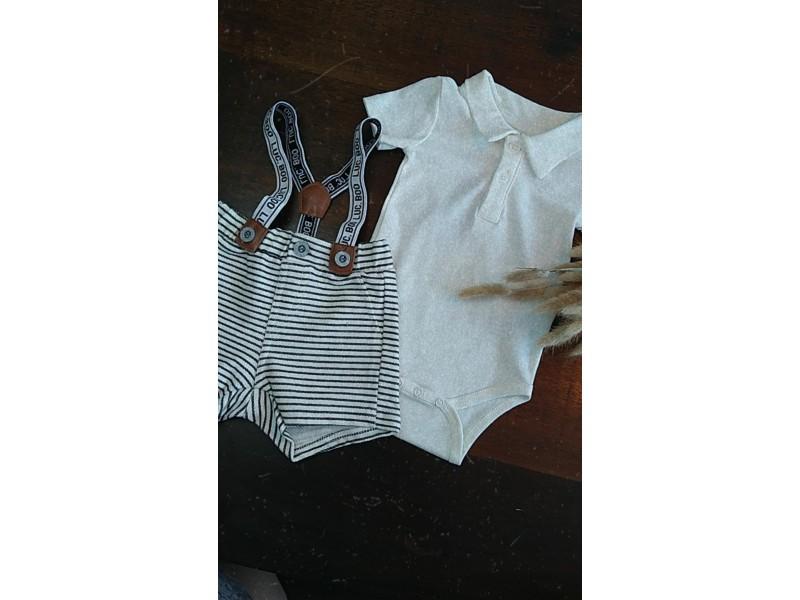 Conjunto Body Polo e Short com Suspensório - LucBoo