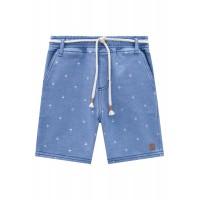 Bermuda Coqueiros - Malha Denim Azul Jeans Claro - LucBoo