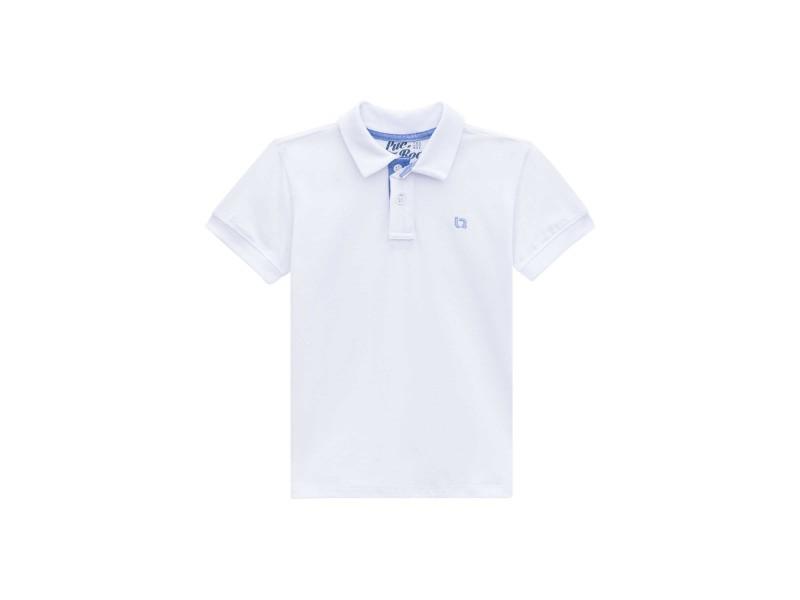 Camisa Polo Manga Curta - Branca - LucBoo