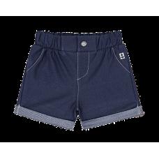 Short Malha Denim - Jeans Escuro - LucBoo